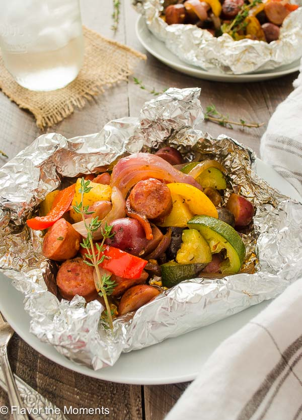 Easy Sausage Pepper And Potato Foil Packets Flavor The